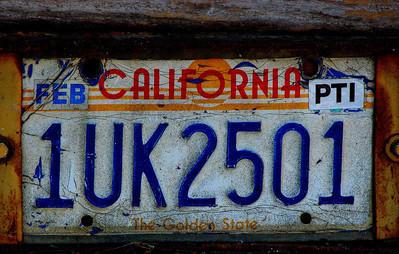 1980s California Plates