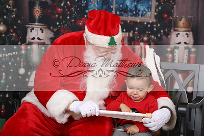 Carson with Santa