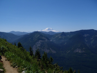 Great views of Rainier from the Ira Spring Trail, July 21, 2013.