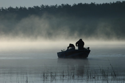 This was taken in the spring of 2007 on Cass Lake on a cool misty-foggy Tuesday morning.