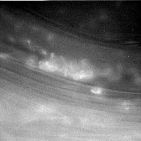 . NASA released this image taken by the Cassini spacecraft as it faced Saturn on April 26, 2017. The images released were the closest ever taken of the planet. (Courtesy photo by NASA)