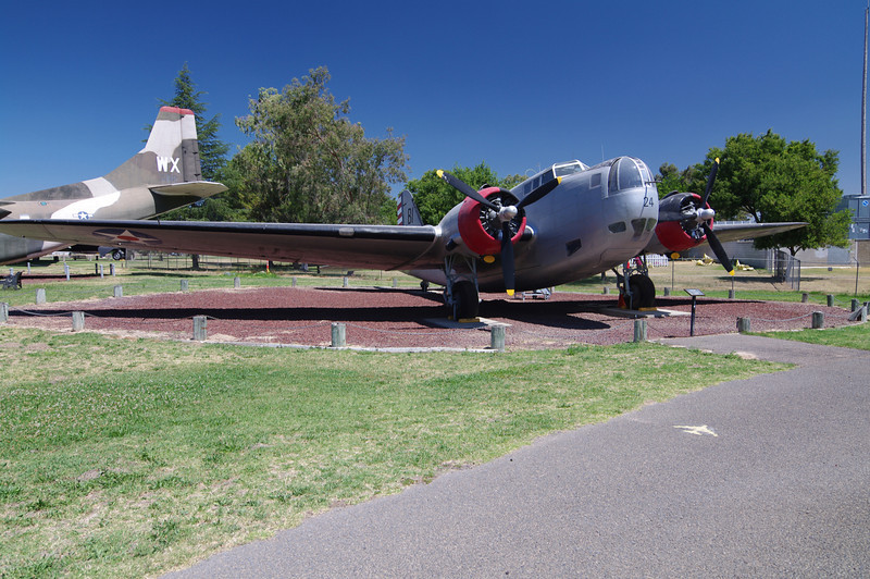 """Douglas B-18 Bolo: (Bomber),  """"First American Aircraft to sink a U-Boat,"""" The oldest aircraft in the Castle Airforce museum, built in 1938."""