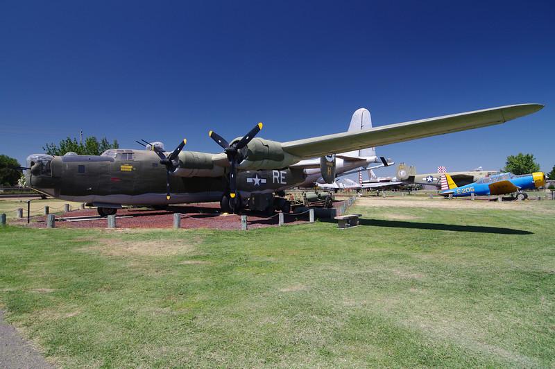 B-24M Liberator: (Bomber), World War II Era, 8,800lbs Bomb payloads, Max Speed 290 mph, 28,000 Max Altitude, 1,590 mile range.
