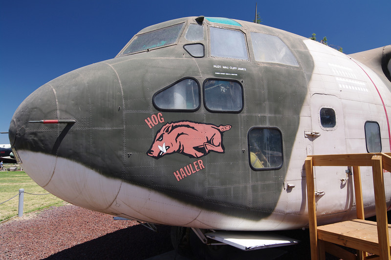 """HOG HAULER."" --Fairchild C-123K Provider:  The name was coined for it's sometime live-animal cargo in Vietnam"