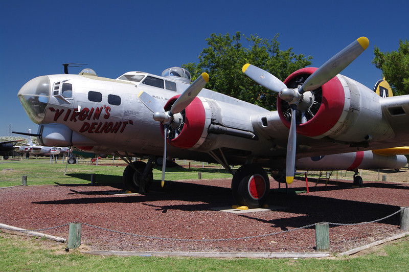 """Boeing B-17G Flying Fortress: (Bomber), famous as a """"Nazi-Killer,"""" General Frederick W. """"Castle,"""" was shot down in WWII in a B17--This retired Air Base was named after him in his honor."""