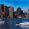 Boston waterfont from Piers Park, East Boston. August, 2005.