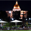 Boston Common and Massachusetts State House. August, 2013.