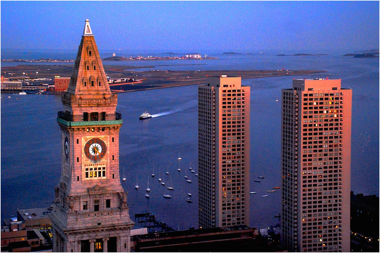 View of Boston Harbor. November, 2010.