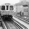 Old Orange Line elevated, between Green Street and Egleston Stations. 1987.