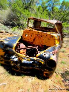 Still coming at ya (or trying!).  Automotive artifact, Fisher Mesa, Utah.