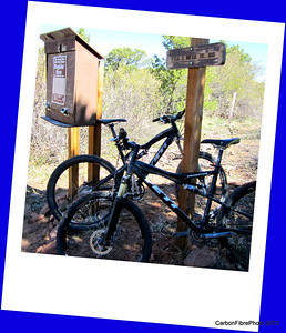 Ready to Rumble at entrance to Fisher Mesa singletrack trail.