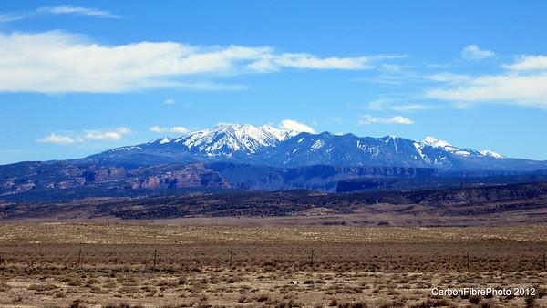 Castle Valley sits below the La Sal Mountains, Utah.