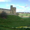 Alnwick Castle and moat