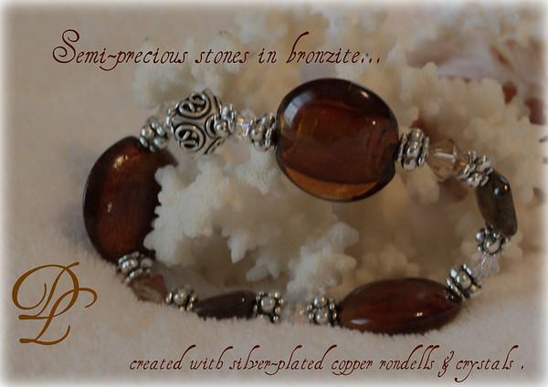 """My handcrafted jewelry is created with a """"Casual & Elegant"""" design, with the simplicity & the popularity of a pull-on style!    All jewelry you will see is available for purchase..and can also be made personally in your choice of colors, components, and size variations.    I will be updating this gallery soon..with price details, etc."""