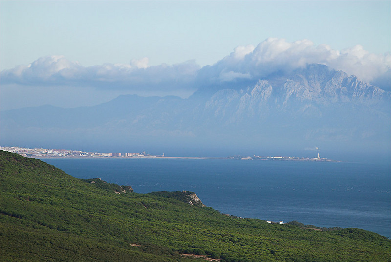 Tarifa and the Jbel Musa at Gibraltar Strait