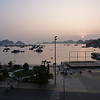 Looking out from our hotel balcony (at the Cat Ba Dream) at the pier and town center on Cat Ba Island