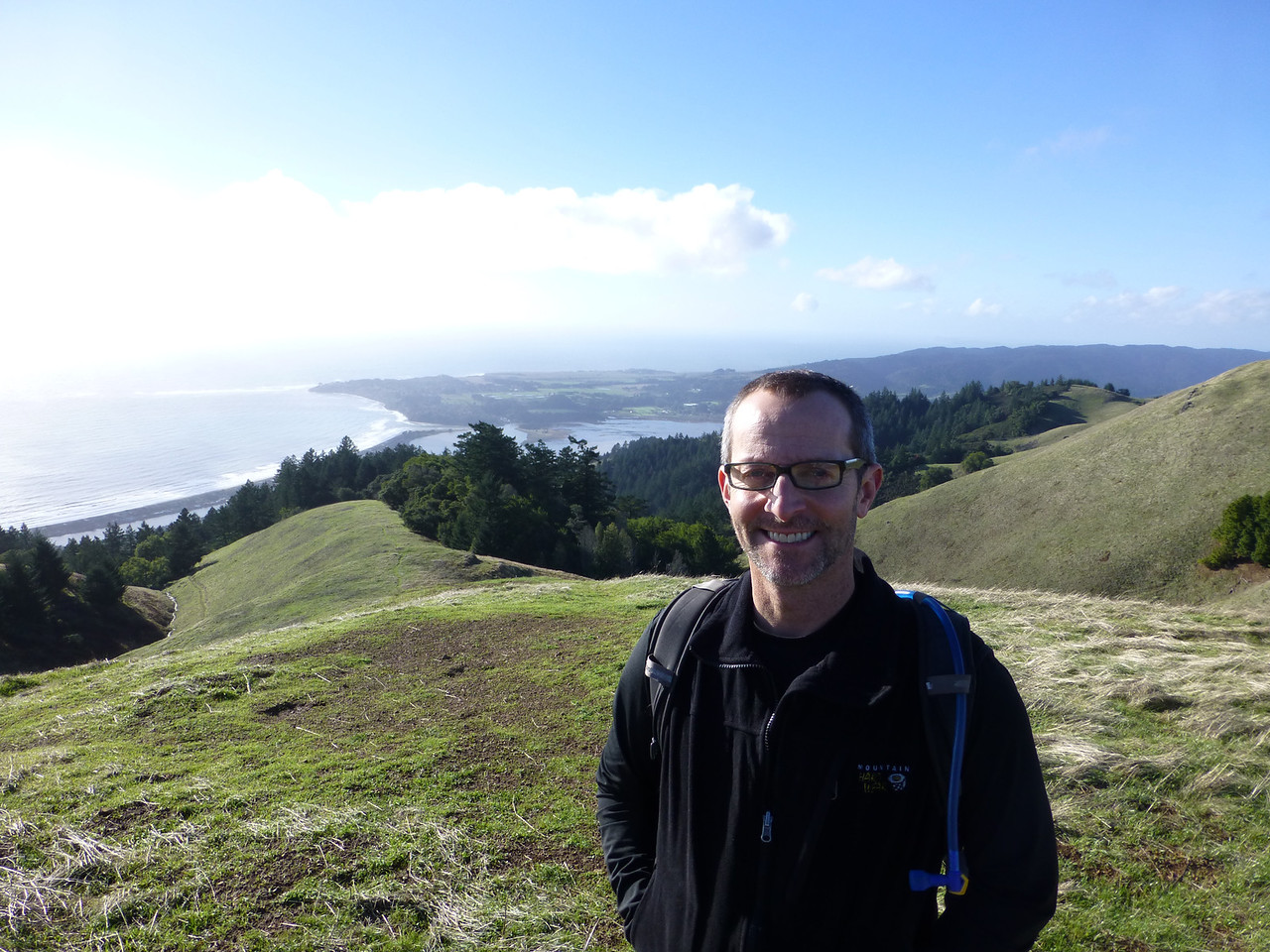 Nicolas Smith near the summit of Mt Tamalpais.  The man that introduced me and Rob.  Organizer of the coolest, best gay backcountry adventures you can possibly imagine.  PHENOMENAL professional photographer!