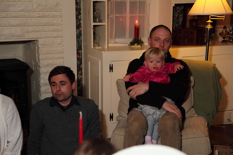 Arron,Ethan holding daughter Julia.