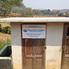 New toilet built for the original village school by the new foundation.