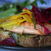 An arctic char open faced sandwich at cibo.