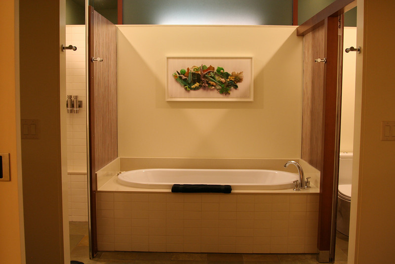 A look at the tub in our bathroom at Cavallo Point.