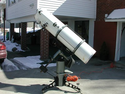 The 12.5 inch Cave Relector telescope from the late 1970's. Approx. f- 5 This is a friends instrument.