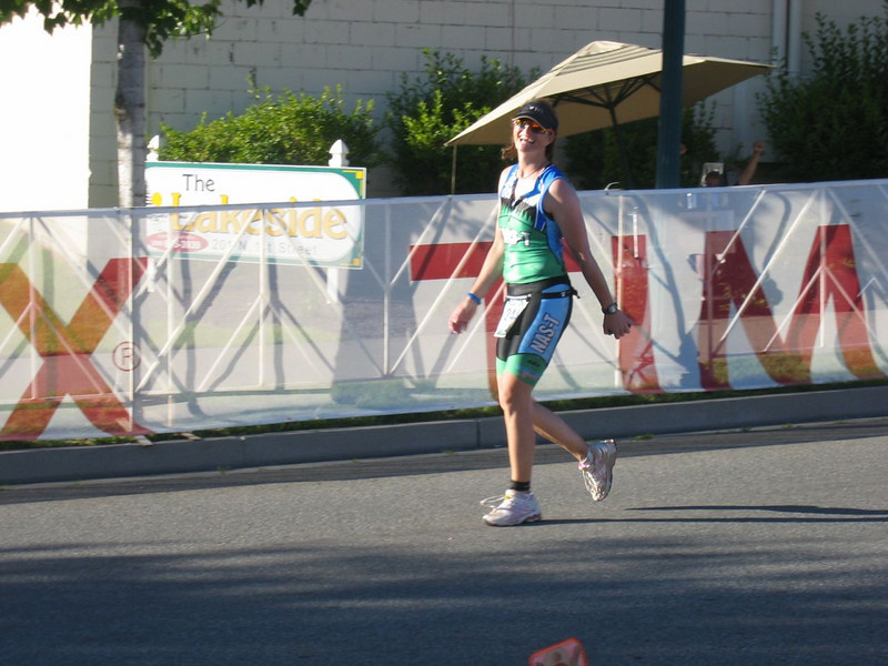 Cathy Diamond!  Be careful of what you eat before you hit the finish!
