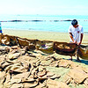 Improvised spill boom against Cebu oil spill