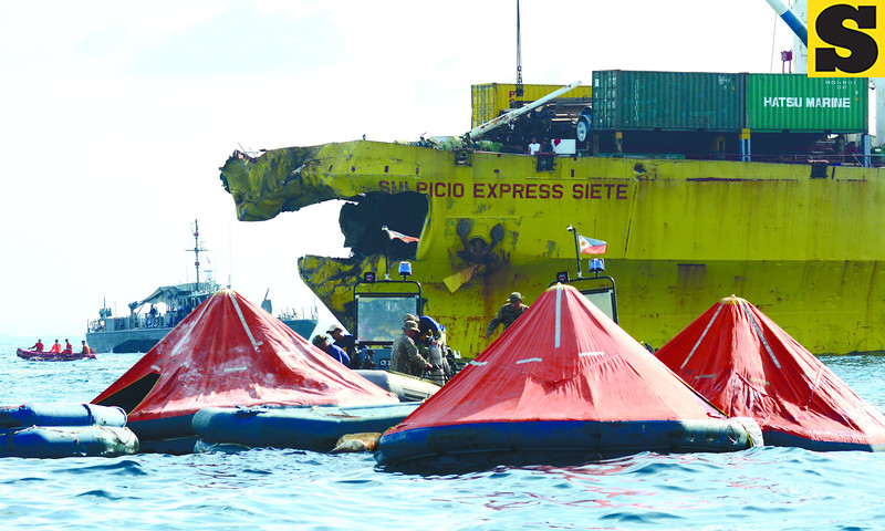 Point of impact in Cebu sea mishap
