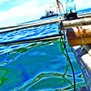 Oil sheen in Cebu waters