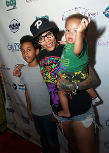 Che Mack of VH1's Love & Hip Hop Atlanta and her kids.