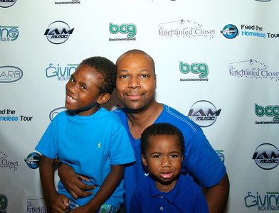 Celebrity Event Photographer, Ben Evans and his Sons.
