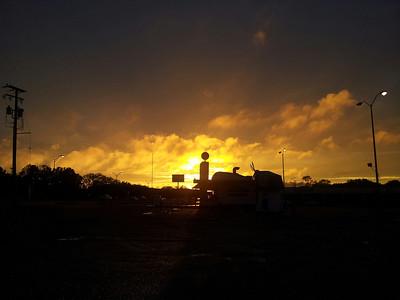 Red sky at Arlington