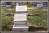 "The stone in the back is labeled ""cenotaph""  which indicates a monumant erected to the dead but it does not contain the remains. There are several brothers but only one is buried here, one in St. Joseph, MO. and one in Houston, TX.  Riverview Cemetery, Jefferson City, Missouri Dec. 8, 2001"