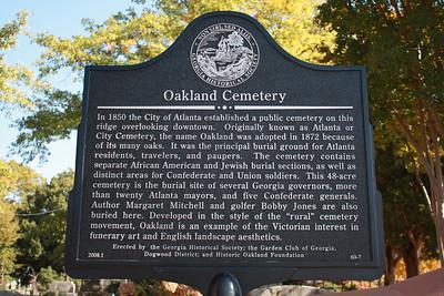 Oakland Cemetery - November 14, 2010