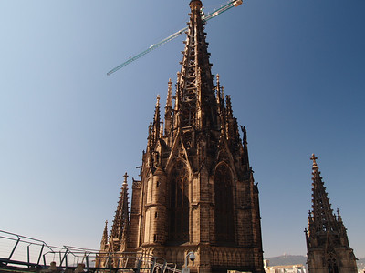 Exterior shot of El Catedral. We went up in the lift onto the roof. Some quite good views from up here