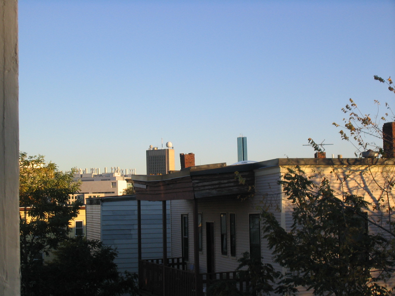 can see downtown from the deck!  sort of...