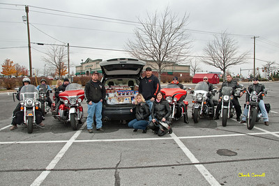 Centre Line Riders Donation to the Snow Shoe Food Bank - November 20, 2010