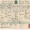 Marriage Certificate<br /> Herbert Doran & Elsie Dean