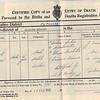 Death Certificate<br /> Herbert Doran