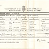 Marriage Certificate<br /> Edmund Atkinson & Sarah Fitton
