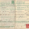 Marriage Certificate<br /> Walter Hill & Elsie Alice Griffin