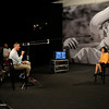 Director Richard Ray Perez interviews Dolores Huerta on the set of Cesar's Last Fast.