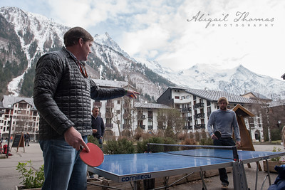 Ping-pong in the courtyard
