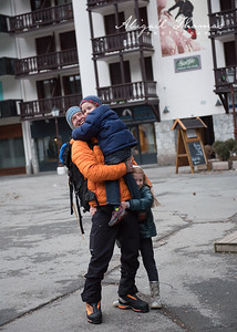 Daddy's home safe (from ice climbing)