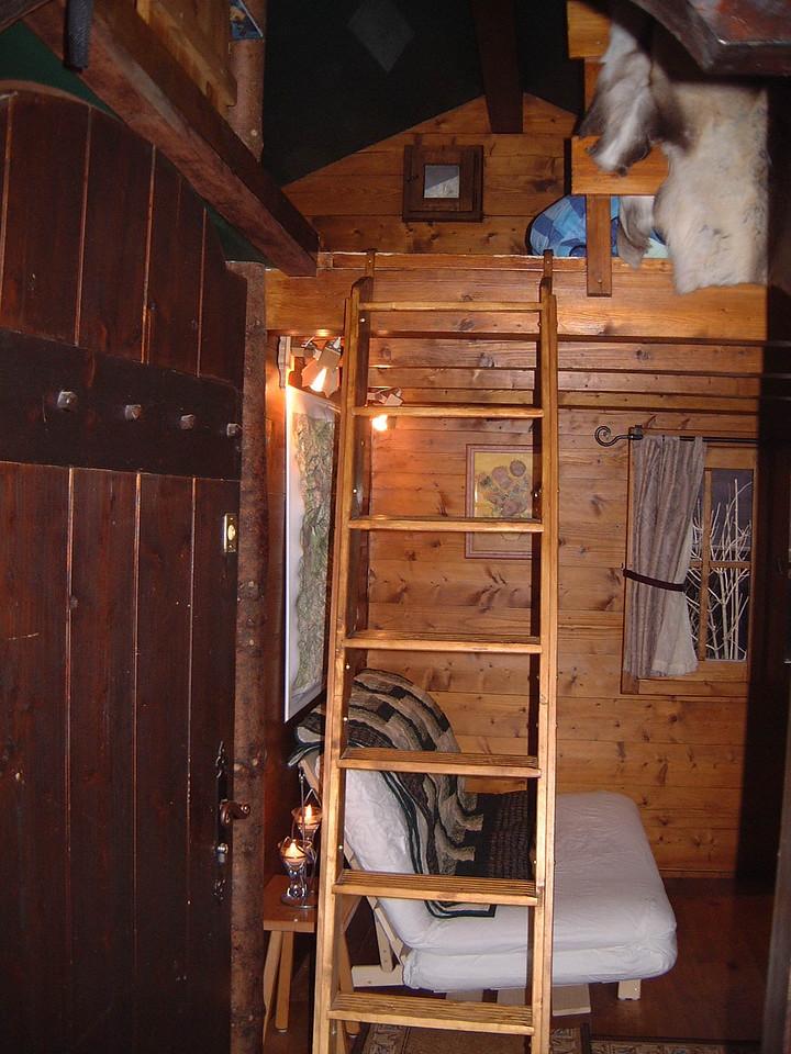 Ladder to Sleeping Loft