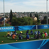 Stretching at the FFHC during Champions League Training of Coaches (ToC) in Alexandra.  April, 2014.