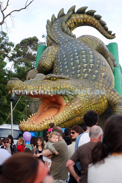 Chanukah in Caulfield Park 2009. Crocodile slide. photo: Peter Haskin