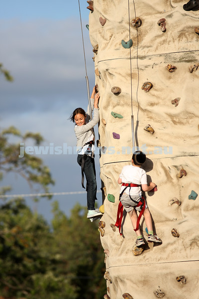 Chanukah in Caulfield Park 2009. Rock climbing. photo: Peter Haskin