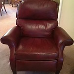 Clean leather recliner